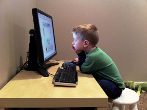 Child on PC